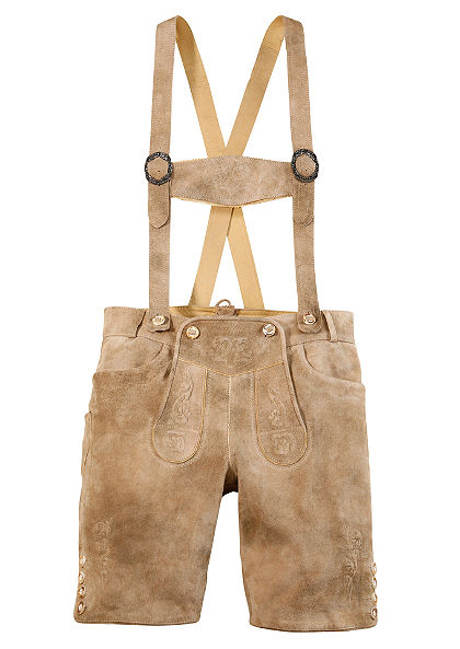Kožené kalhoty s tradiční výšivkou, Marjo
