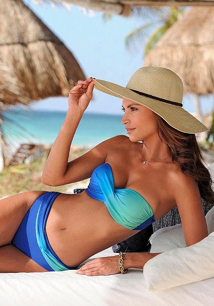 Merevítős, pánt nélküli bikini, LASCANA