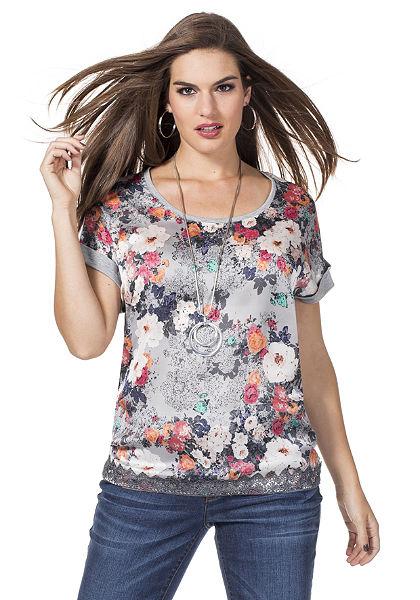 sheego Trend póló többféle anyagból