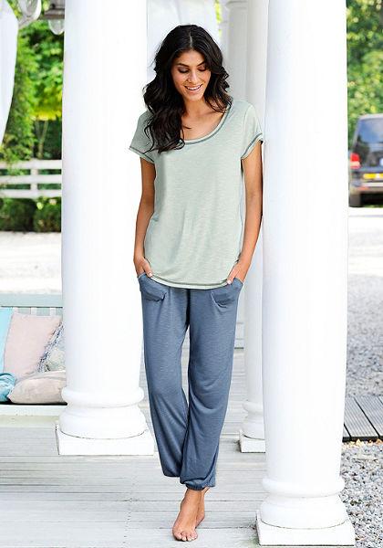 Pizsama Vivance, rövidujjú póló + hosszú nadrág