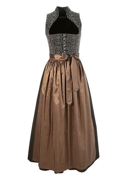 Dlouhé krojové šaty s kalichovým límcem, Berwin & Wolff