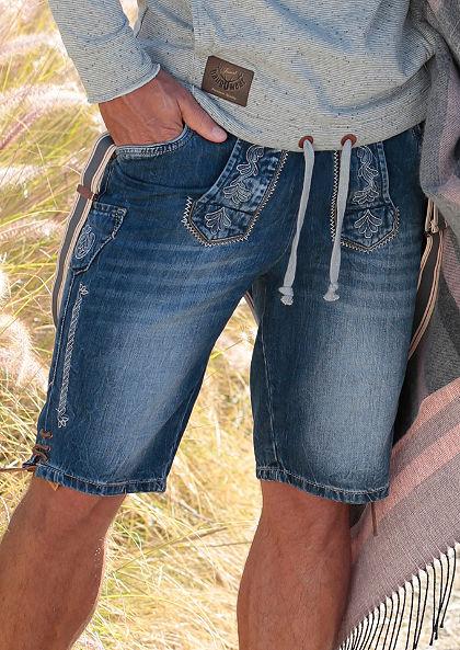 Krojové šortky s odnímatelnými šlemi, Marjo
