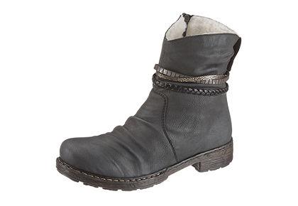Rieker magasszárú cipő szalagokkal
