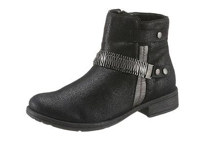Remonte magasszárú cipő divatos metál dísszel