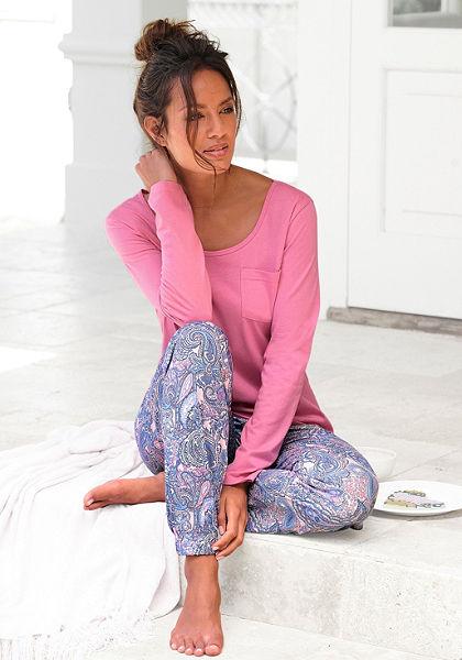 Pyžamavé tričko s dlhým rukávom