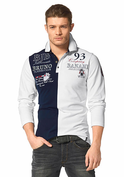 Bruno Banani hosszú ujjú galléros póló »pique minőségű«