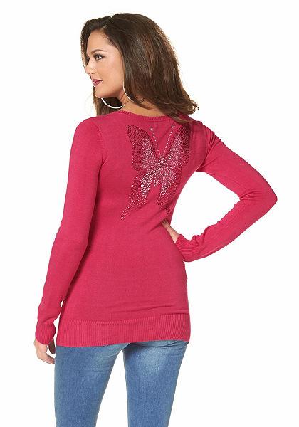 Melrose pulóver »strasszkő-pillangó«