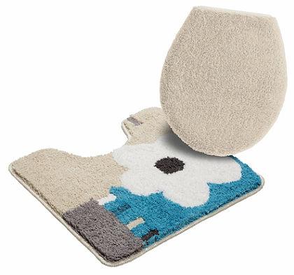 Fürdőszobaszőnyeg, álló WC szett, my home, »Merit«, magassága 15/20 mm, csúszásgátló hátoldallal
