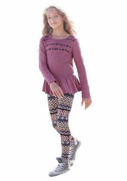 CFL tunika & legging ethno mintával (2 részes), lányoknak