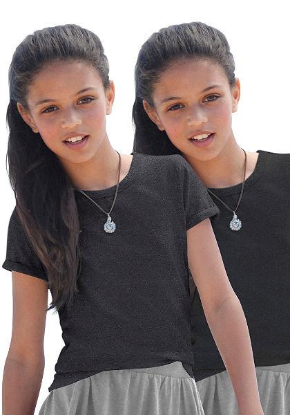 kidsworld Tričko s dlhým rukávom a šál, pre dievčatá