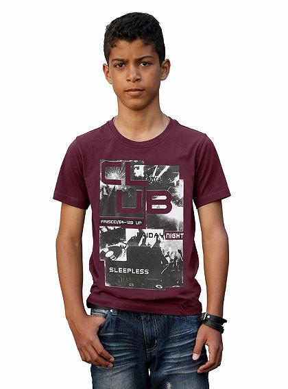 H.I.S póló divatos fotónyomással, fiúknak