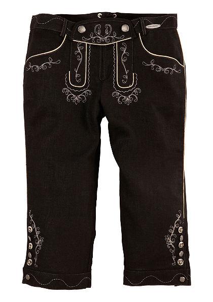 Kožené krojové kalhoty v 3/4 délce, Spieth & Wensky