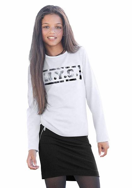 CFL hosszú ujjú póló fólia nyomással, lányoknak