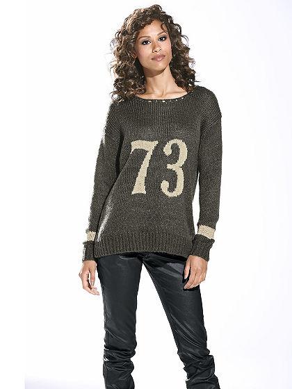 Nagyszemű kötött pulóver