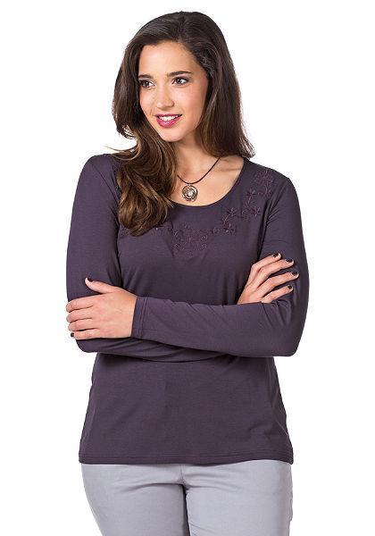 sheego Style Tričko s dlhým rukávom