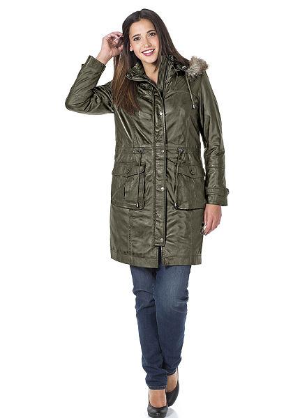 sheego Style Kožený kabát