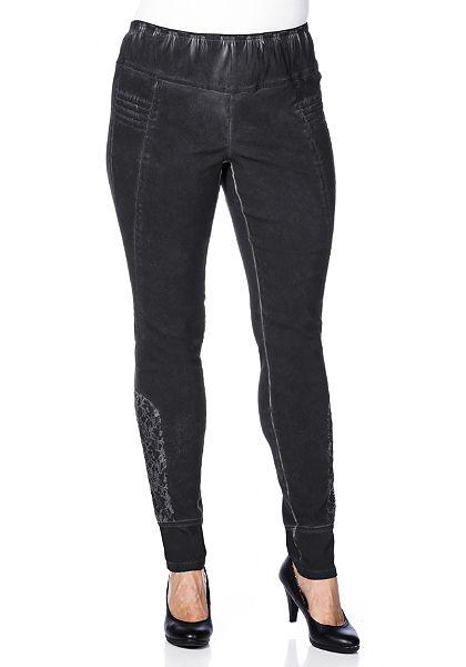 sheego Style gumis derekú szűk szárú nadrág