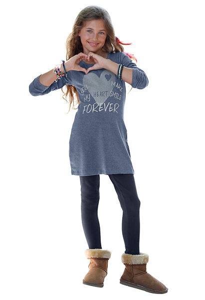 CFL ruha&legging csillogó nyomásmintával (szett, 2 részes), lányoknak