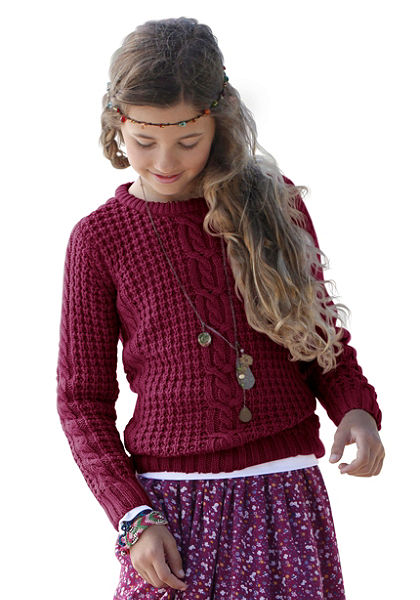 CFL pulóver copfmintás, lányoknak
