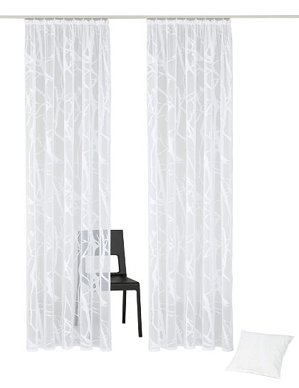 Függöny, my home, »Glinde«, (2 db), hozzáillő párnahuzat ajándékba