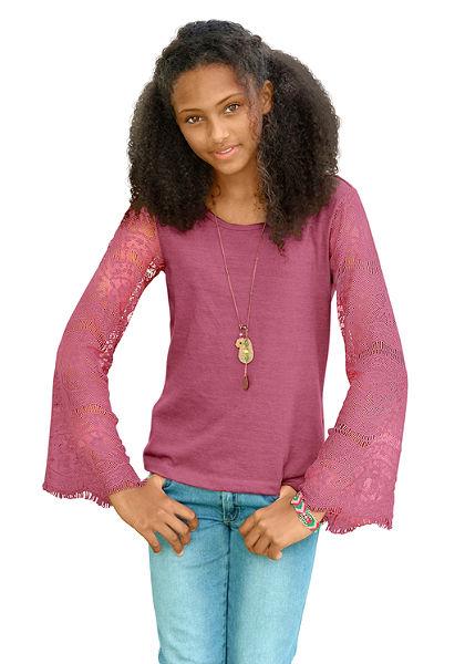Tričko s dlhým rukávom, pre dievčatá