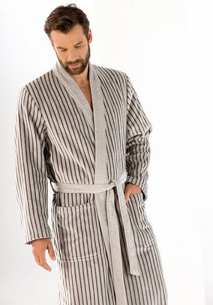 Férfi fürdőköntös, Cawö, »Kimono«, hosszú csíkokkal
