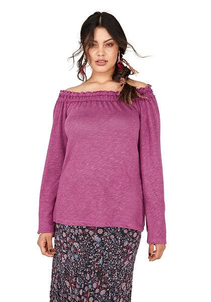 sheego Trend carmen nyakkivágású póló