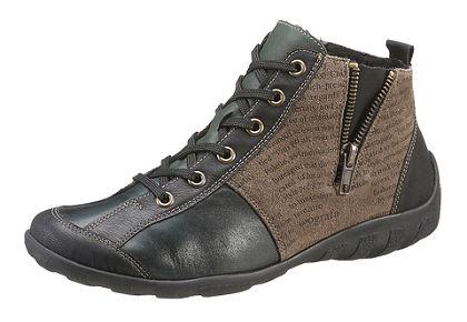 Remonte fűzős magasszárú cipő divatos anyagkeverékben