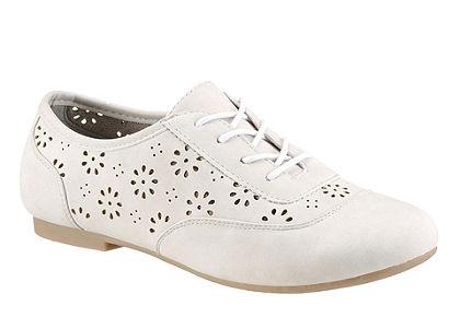 City Walk fűzős cipő lyukasztásos díszítéssel