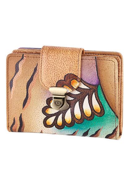 Kézzel festett bőr pénztárca, Art & Craft