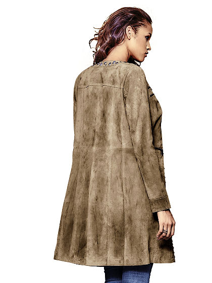 Kožený kabát, bravčová koža