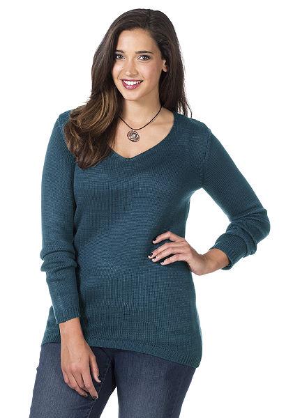 sheego Style Dlouhý pulovr