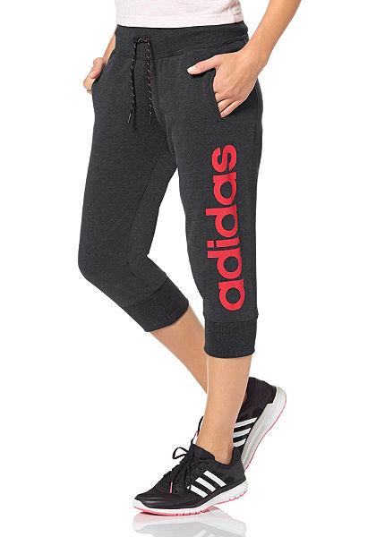 adidas Performance ESSENTIALS LINEAR 3/4 PANTS 3/4 bavlnené kalhoty