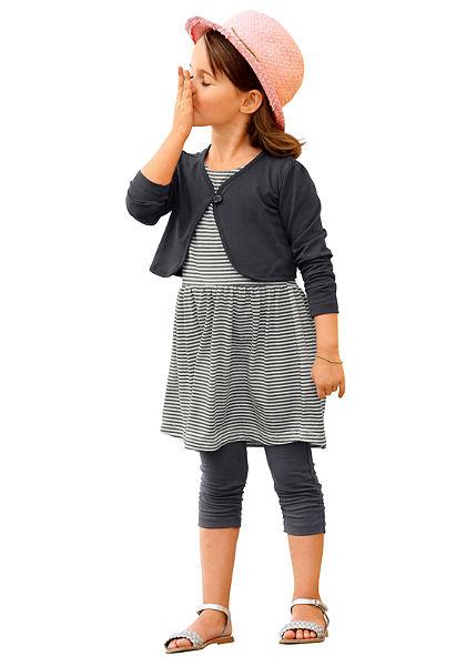 Bolero + šaty + legíny, pre dievčatá