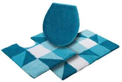 Fürdőszobaszönyeg, álló Wc szett, my home Selection, »Denise«, magasság 20mm, mikroszálas (3 részes)