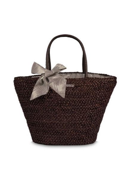 Fabrizio szalma táska masnival