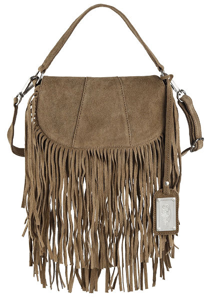 Buffalo fogantyús táska rojtokkal bőrből