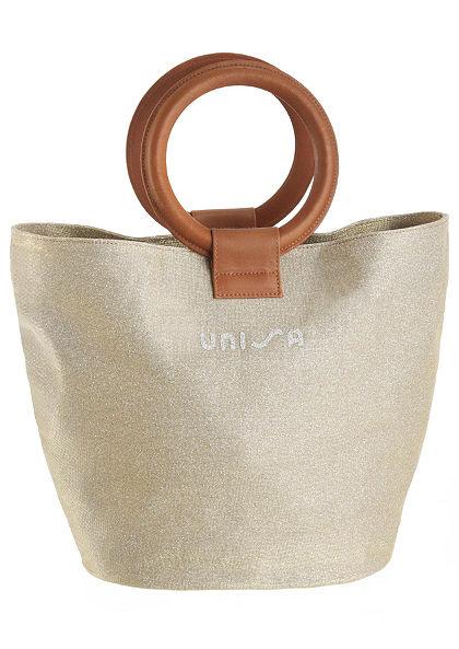Unisa kabelka s uchem se zlatým leskem