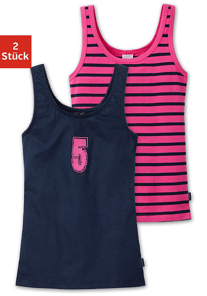 Schiesser trikó lányoknak (2 darab), sportos