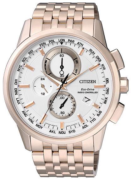 Citizen rádióvezérelt kronográf óra Világidővel, »AT8113-55A«