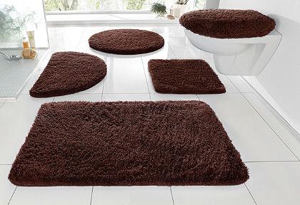 Fürdőszobaszőnyeg, félkör, my home, »Merida«, magasság 32mm, csúszásgátló hátoldallal