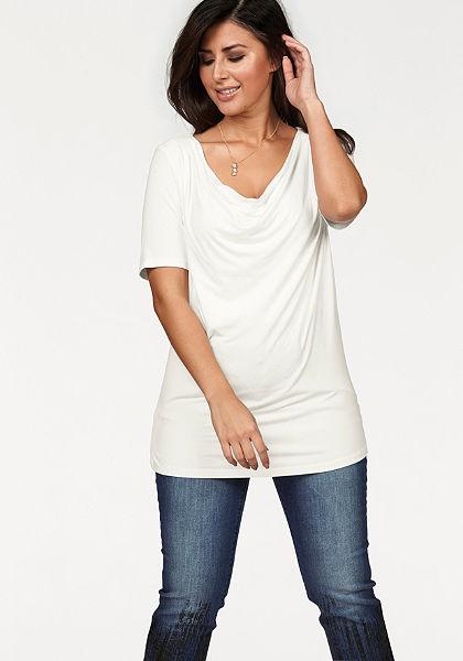 Apart redőzött nyakkivágású póló