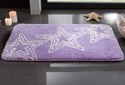 Fürdőszobaszönyeg, my home, »Florence«, magasság 20mm,csúszásgátló hátoldal, csillag mintával