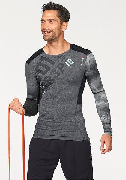 Reebok ONE SERIES PW3R LS COMPRESSION TOP Športové tričko s dlhým rukávom