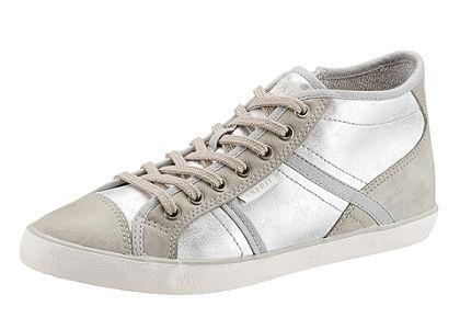 Esprit fűzős magasszárú cipő, világos talppal