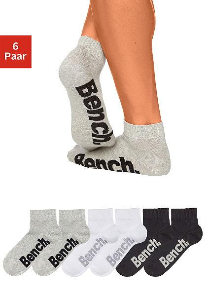 Bench zokni (3 Paar) kényelmes bordázott szegéllyel