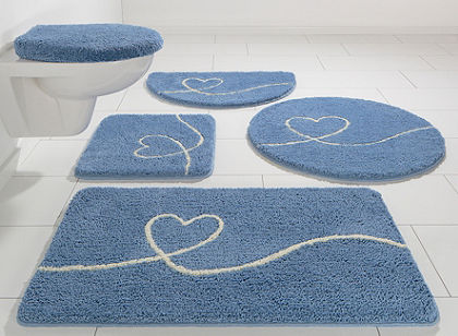 Fürdőszobaszönyeg, félkör, my home selection, »Newlove«, magasság 20mm, mikroszálas,csúszásgátló hátoldal