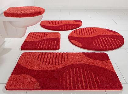 Fürdőszobaszönyeg, kerek, my home Selection, »Amrum«, magasság 15 mm, mikroszálas,csúszásgátló hátoldal