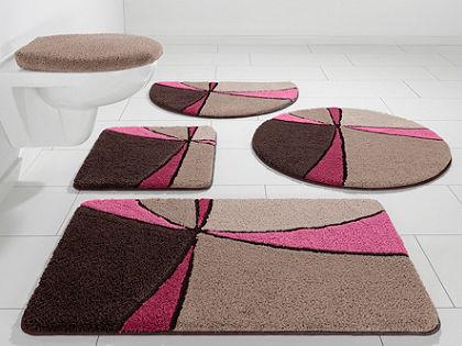 Fürdőszobaszönyeg, fali Wc szett, my home Selection, »Anthea«, magasság 15 mm, mikroszálas,csúszásgátló hátoldal