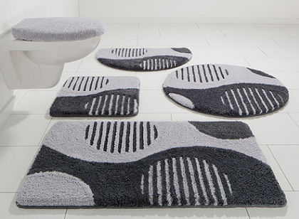 Fürdőszobaszönyeg, álló Wc szett, my home Selection, »Amrum«, magasság 15 mm, mikroszálas,csúszásgátló hátoldal
